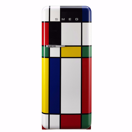 Smeg FAB28RDMC-Tek Kapılı Buzdolabı Multi Color