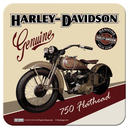 Nostalgic Art Harley Davidson Flathead Tekli Bardak Altlığı 9x9 Cm