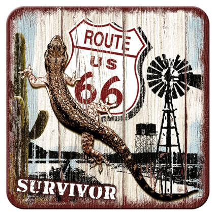 Nostalgic Art Route 66 Desert Survivor Tekli Bardak Altlığı 9x9 Cm