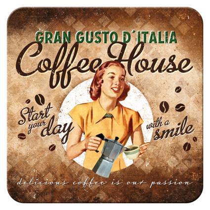 Nostalgic Art Coffee House Tekli Bardak Altlığı 9x9 Cm