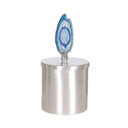 Altıncı Cadde Mavi Taşlı Gümüş Kutu