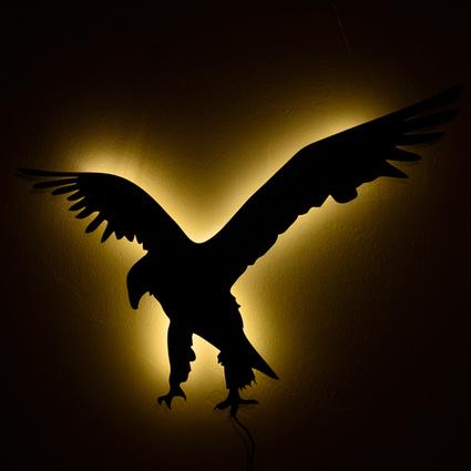 Bakır İstanbul Eagle Duvar Aydınlatma