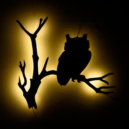 Bakır İstanbul Owl Duvar Aydinlatma