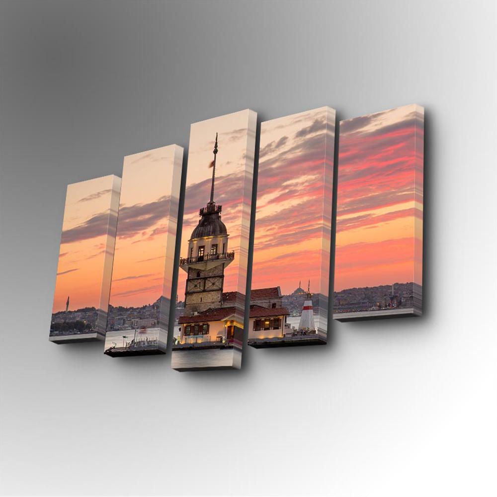 Özgül 5 Parça Canvas Tablo 82x50 cm Ürün Resmi