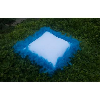 Aliz Tüylü Kırlent- Mavi Tüylü Beyaz