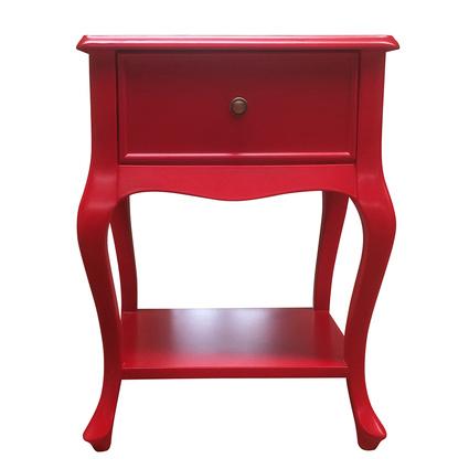 Woodenbend Purl Kırmızı Komodin