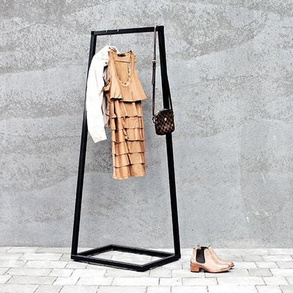 Urbanoloji Metal Portmanto Elbise Askılık Siyah