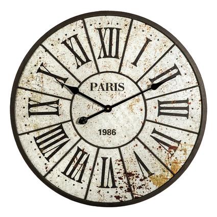 Altıncı Cadde Paris Duvar Saati Gri 60Cm