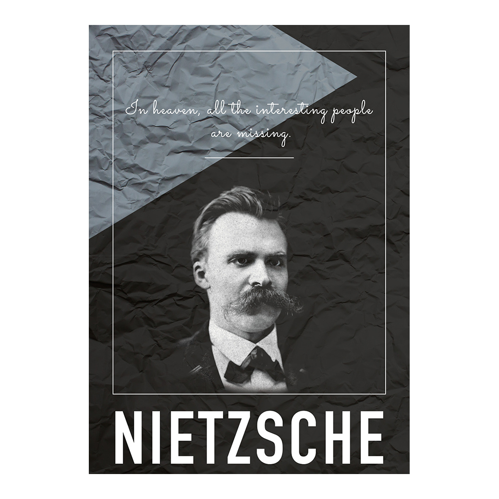 decarthome friedrich nietzsche c poster 30 x 40 cm decarthome 16144. Black Bedroom Furniture Sets. Home Design Ideas