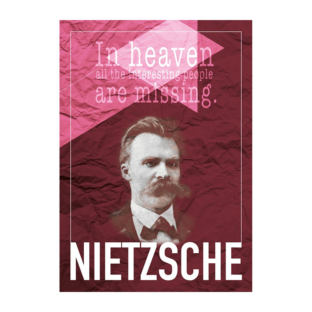 decarthome friedrich nietzsche e poster 30 x 40 cm decarthome 16146. Black Bedroom Furniture Sets. Home Design Ideas