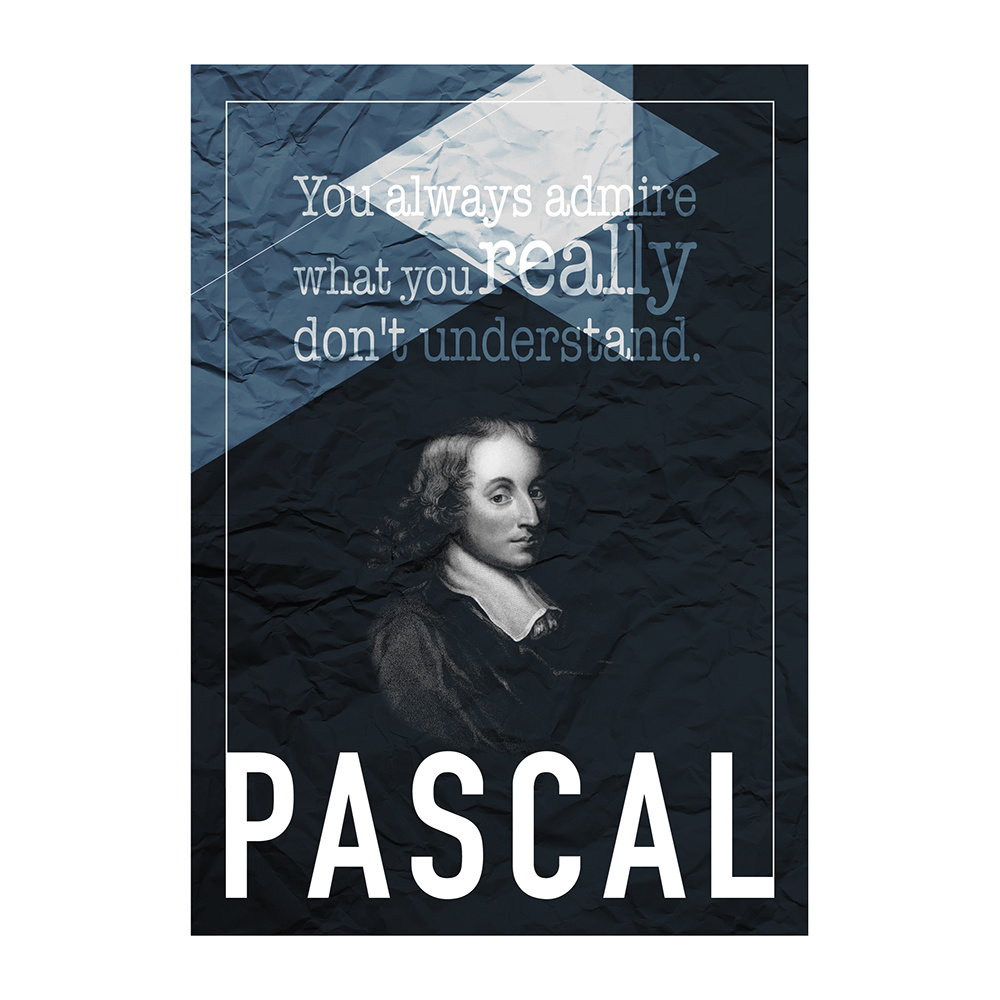decarthome blaise pascal a poster 30 x 40 cm decarthome 16148. Black Bedroom Furniture Sets. Home Design Ideas
