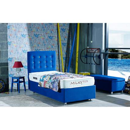 Mattrest Retro Baza&Başlık Set 140x190 Cm Mavi