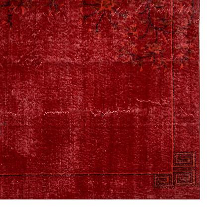 Altıncı Cadde Vintage Halı Kırmızı