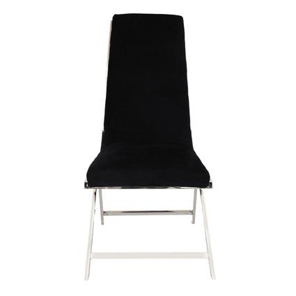 Altıncı Cadde Paslanmaz Çelik Ayaklı Sandalye Siyah Renk