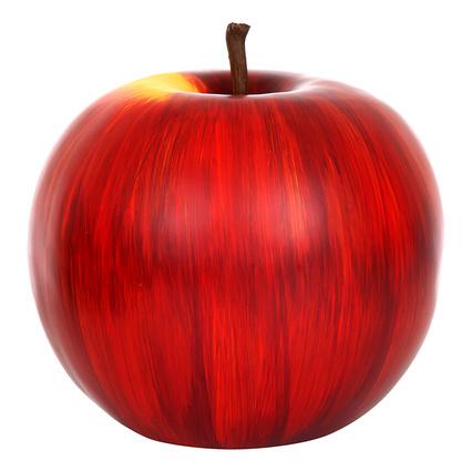 Altıncı Cadde Dekoratif Elma Kırmızı 27x27 Cm