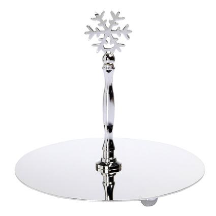 Altıncı Cadde Kar Tanesi Gümüş Servis Tabağı 14x17cm