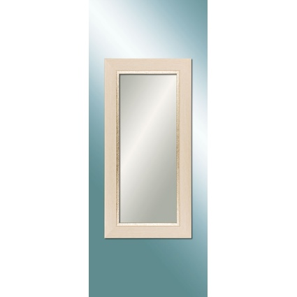 Regal Saat Ultima Rustik Ahşap Desenli Köşeli Ayna