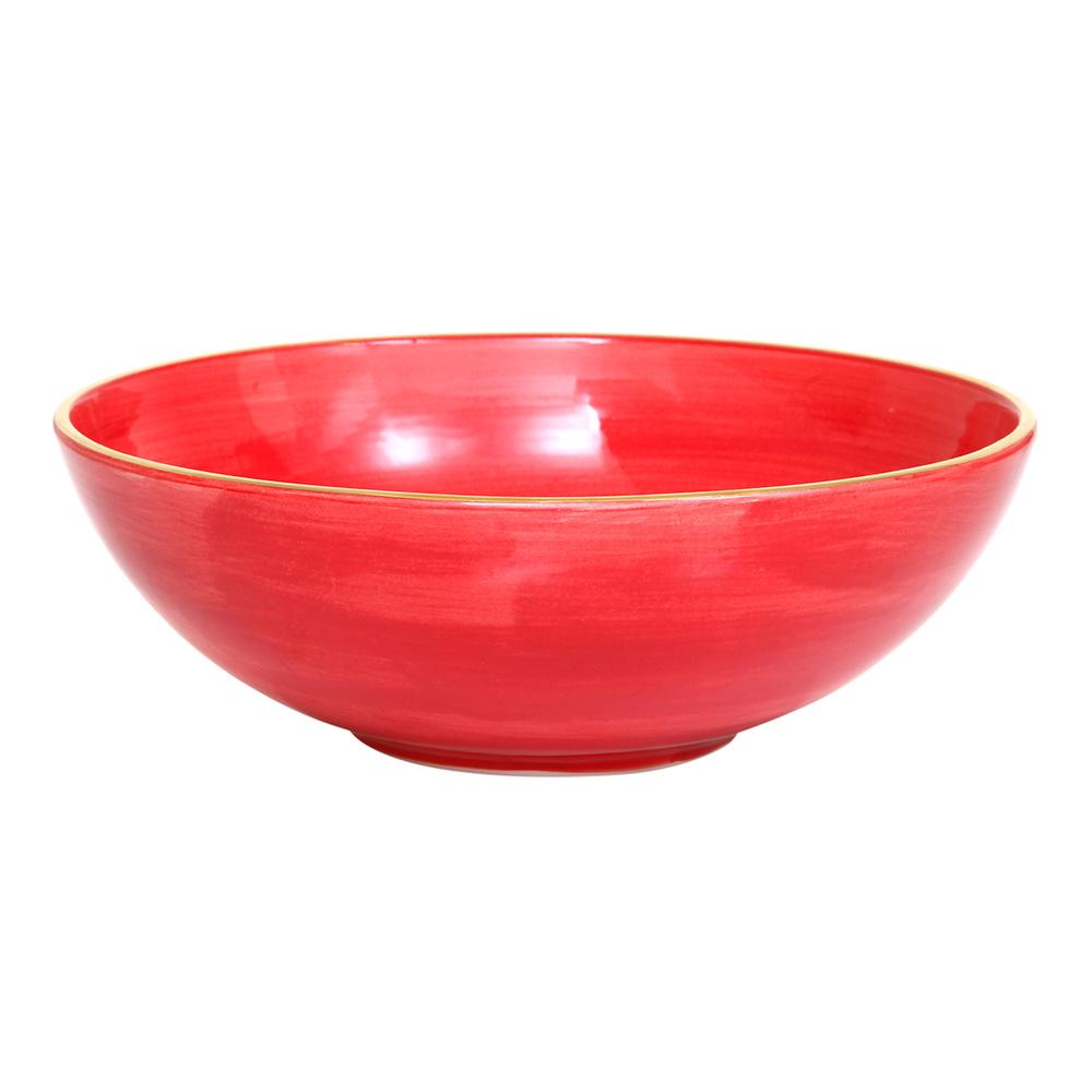 Altıncı Cadde Seramik Salata Kasesi Kırmızı 25 cm Ürün Resmi