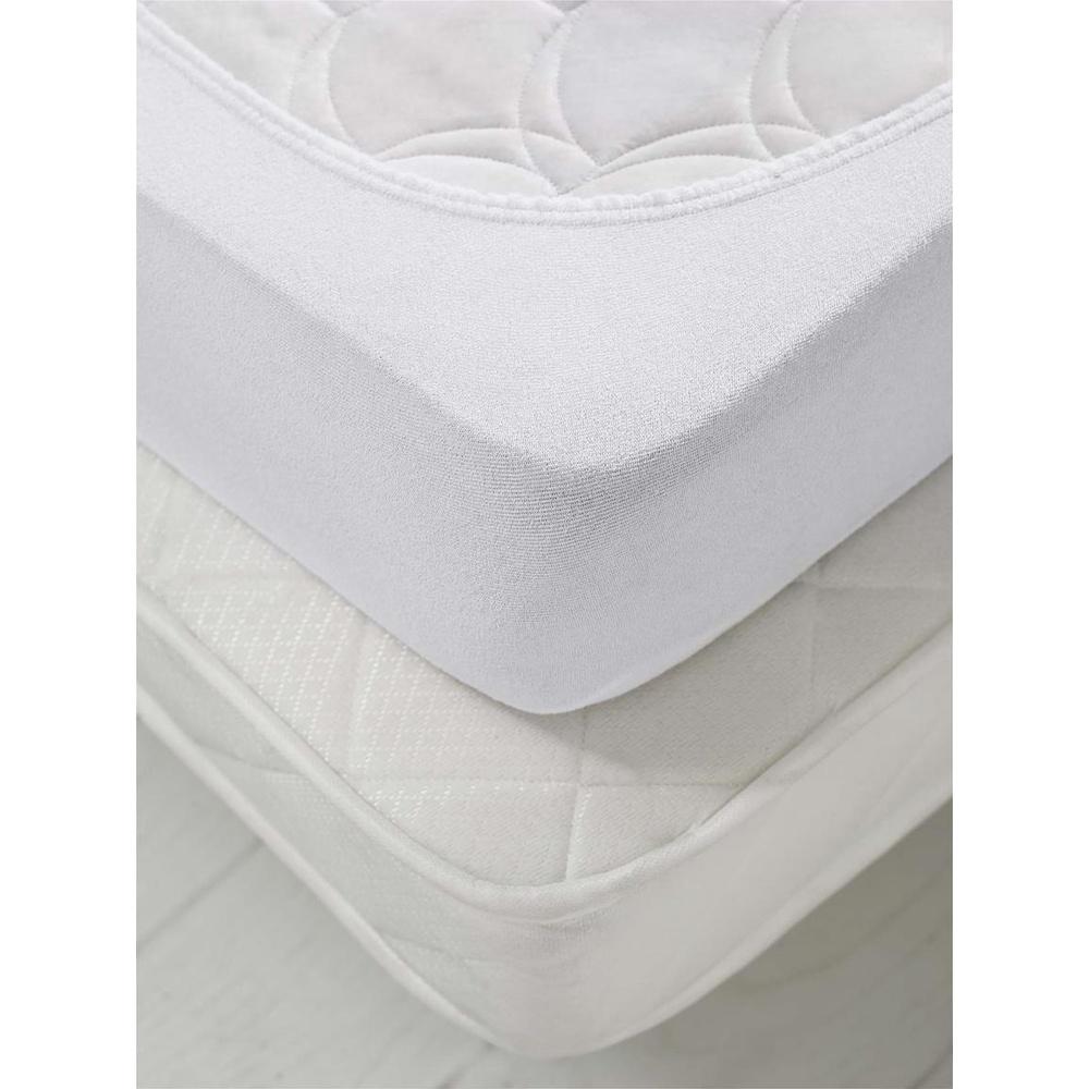 Lastikli Sıvı Geçirmez Tek Kisilik Fitted Sıvı Geçirmez Yatak Koruyucu Beyaz