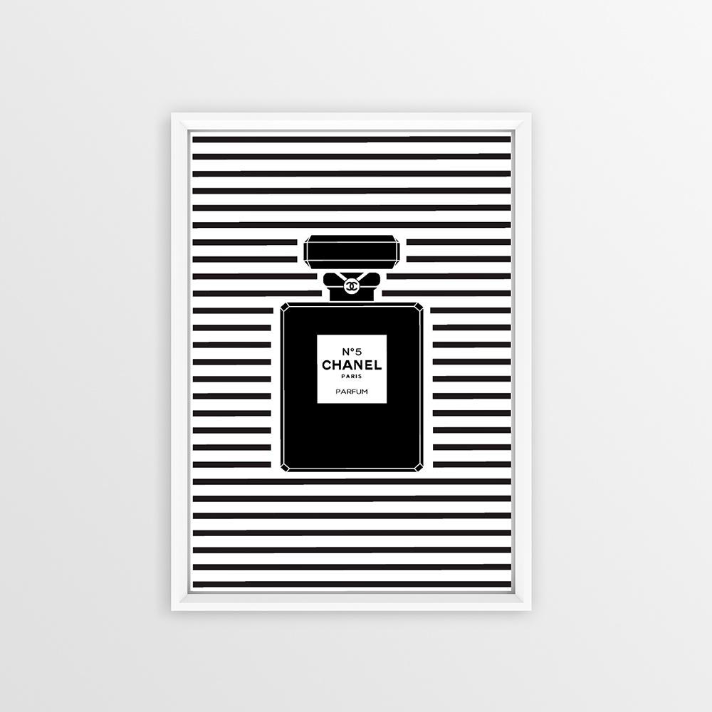 Çizgili Parfüm Şişesi