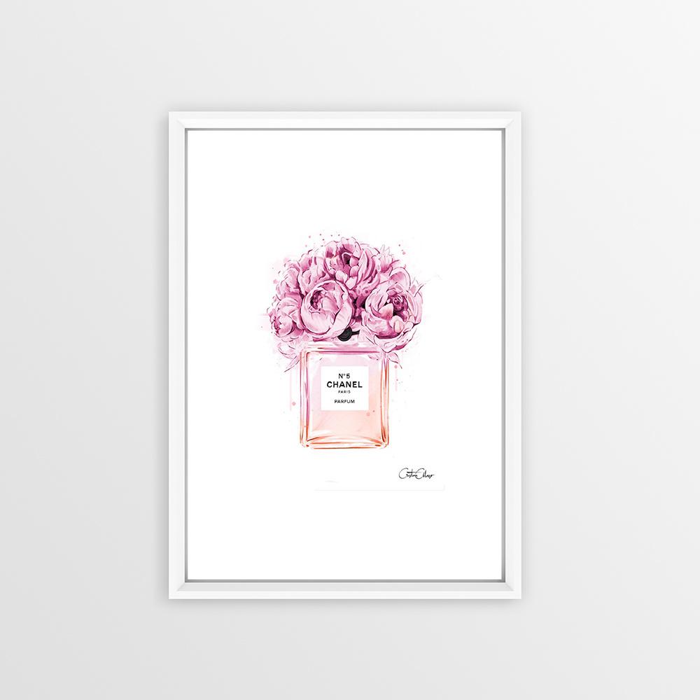 Çiçekli Parfüm Şişesi