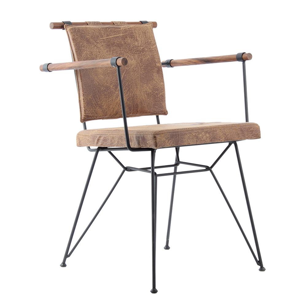 Kozza Home Endustrıyel Apyzn Metal Ahşap Sandalye Ürün Resmi