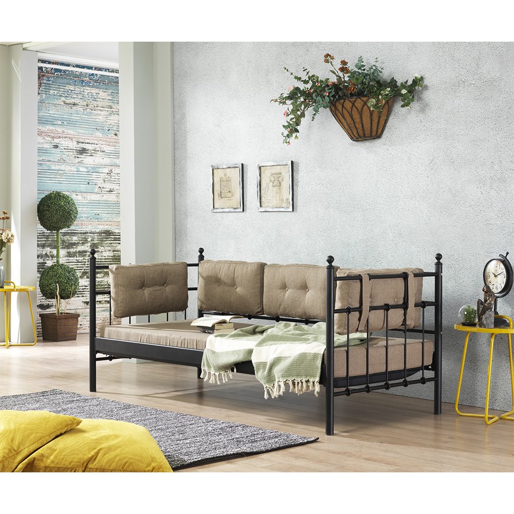 Lalas (Mindersiz) 90X200 Cm Siyah Sofa