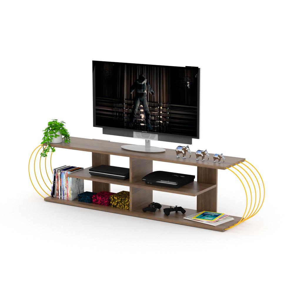 Case TV Ünitesi (Ceviz-Sarı)
