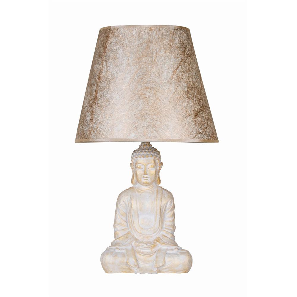 Modern Dizayn Buda Abajur Beyazgold-Gold