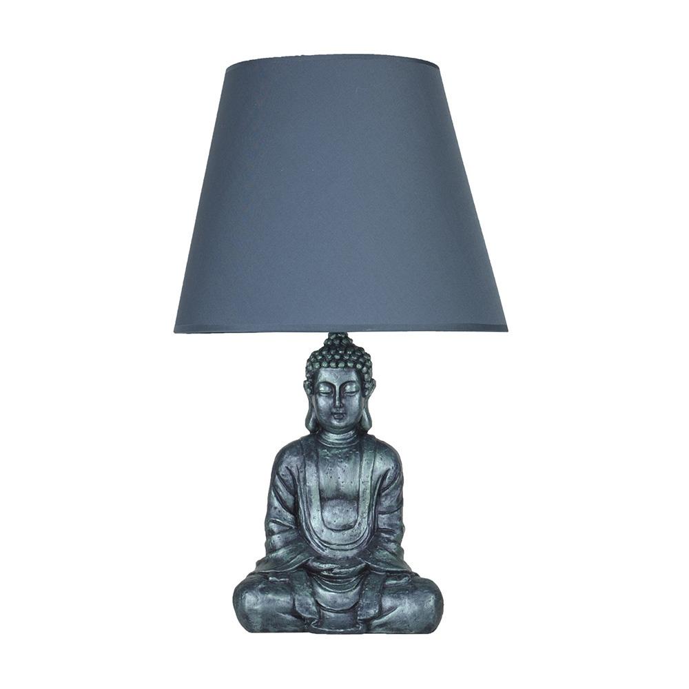 Modern Dizayn Buda Abajur Yeşil-Lacivert