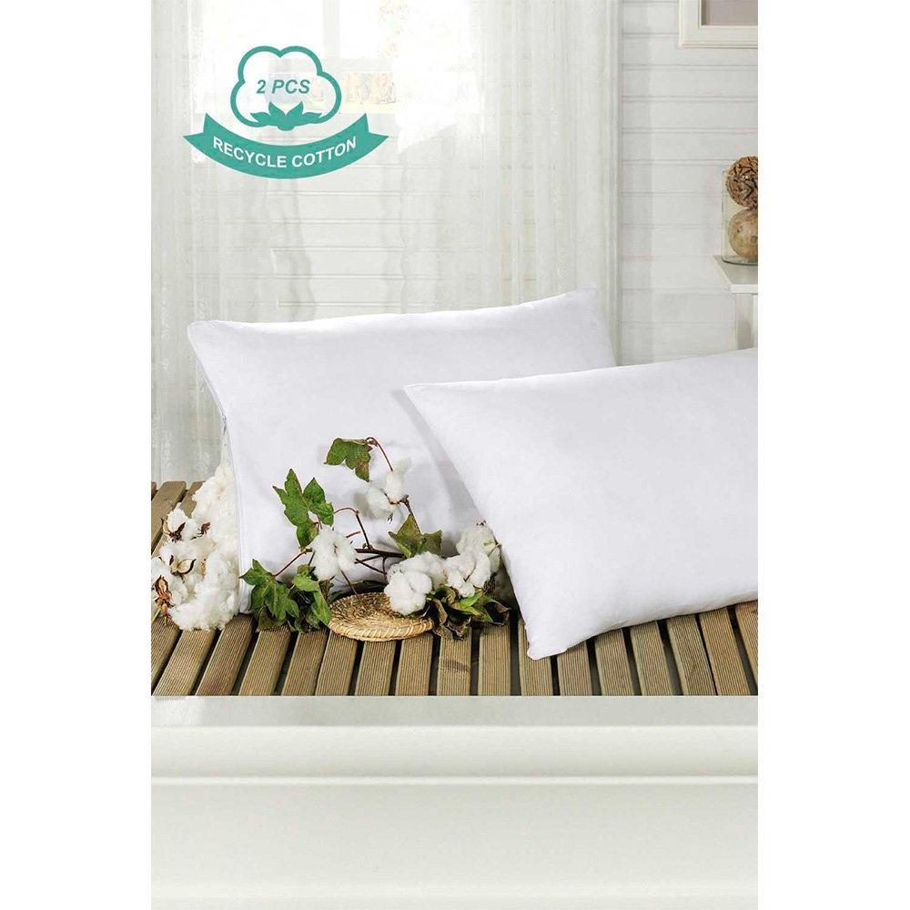 2'li Recycle Pamuk Yastık 50x70cm Beyaz