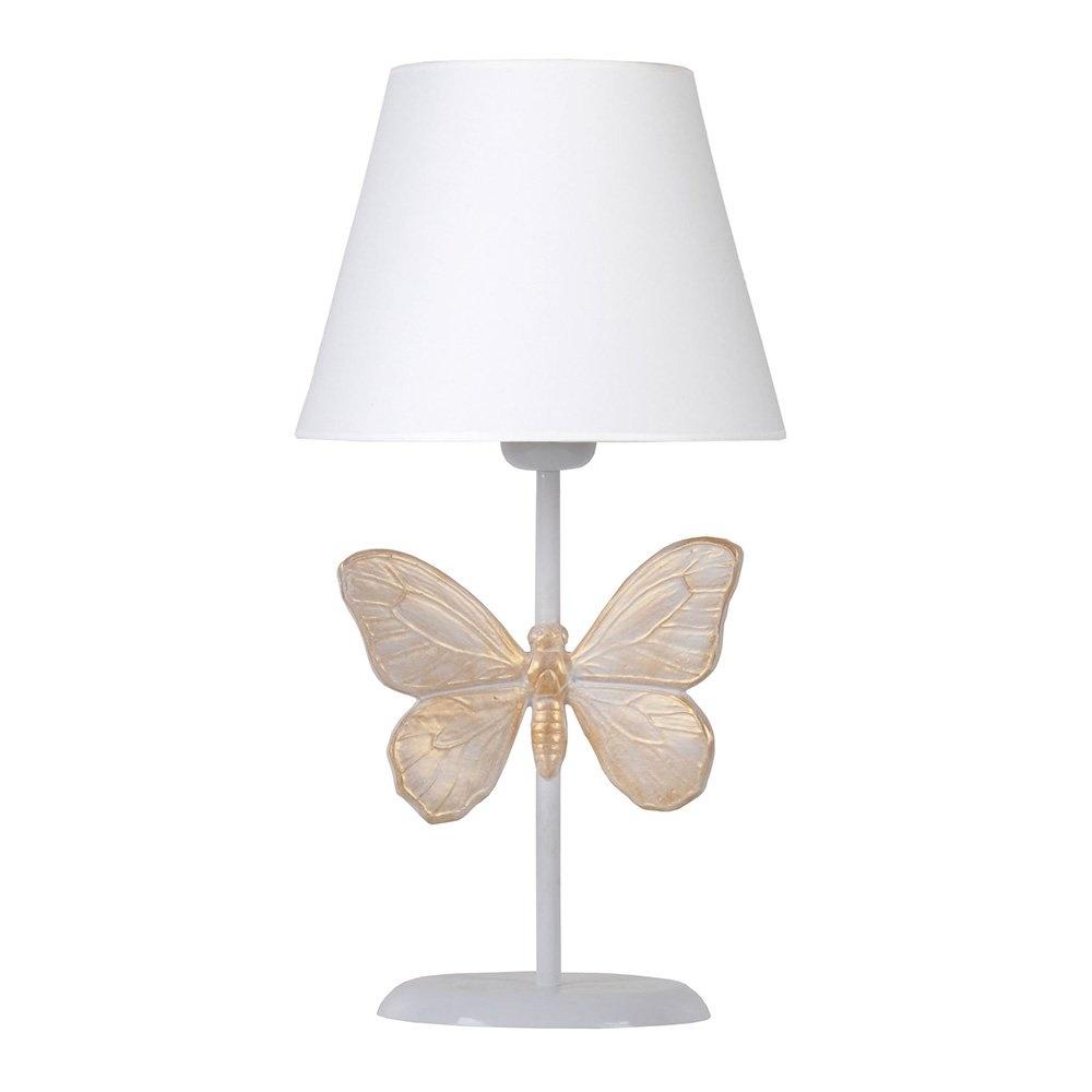 Modern Dizayn Kelebek Abajur Beyaz Beyaz