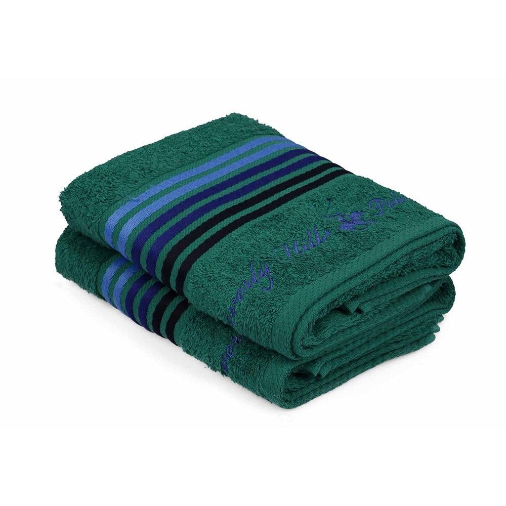 Havlu Seti 50x90cm (2) Hand&Towel 6Çizgili Yeşil