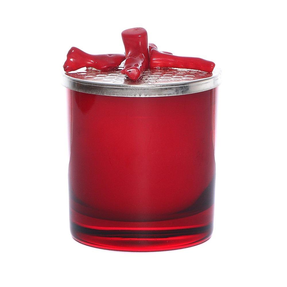 Krom Kapaklı Kırmızı Mercan Mum