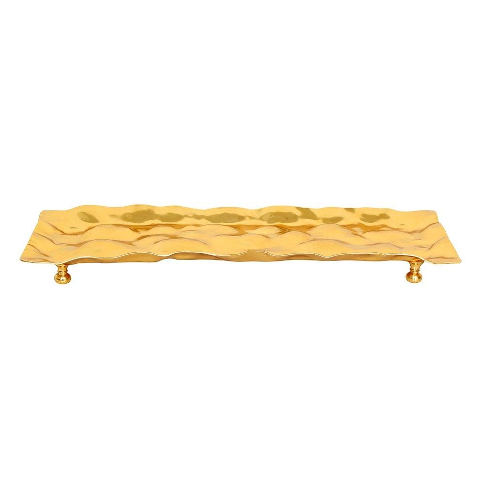 Dalgalı Desen Gold Küçük BoyTepsi 14x33