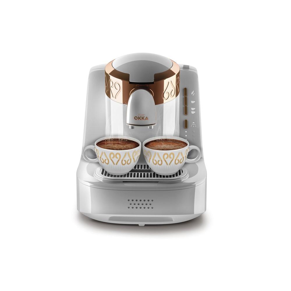 Okka OK001 Otomatik Türk Kahve Makinesi – Beyaz