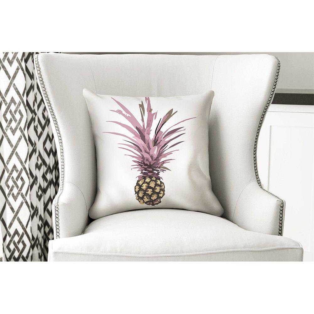 Yastık Pembe Yapraklı Ananas