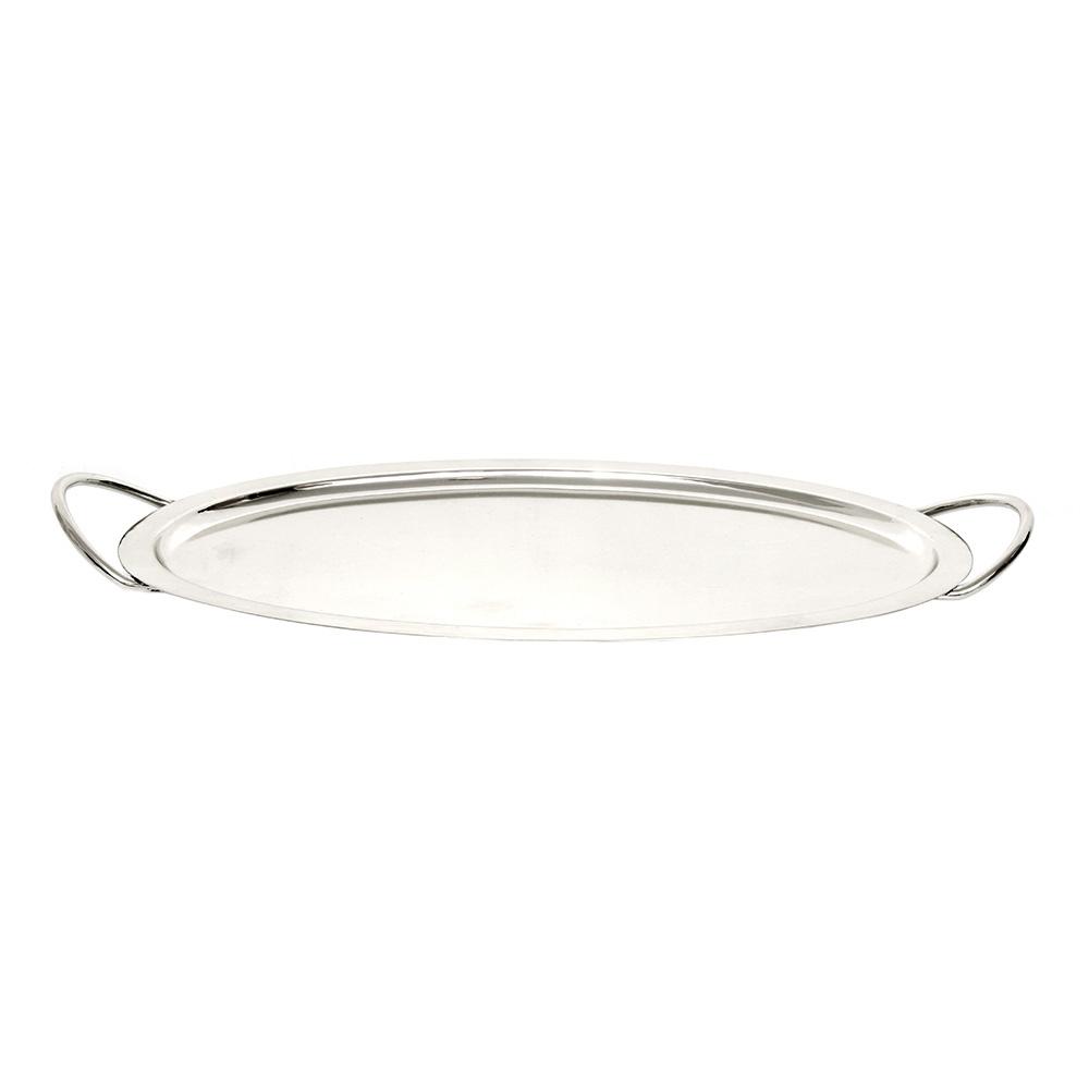 Modern Oval Tepsi Gümüş 26x44 cm