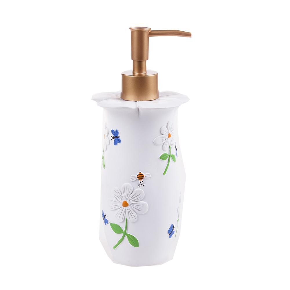 Sıvı Sabunluk Çiçekli Model Banyo Aksesuarı