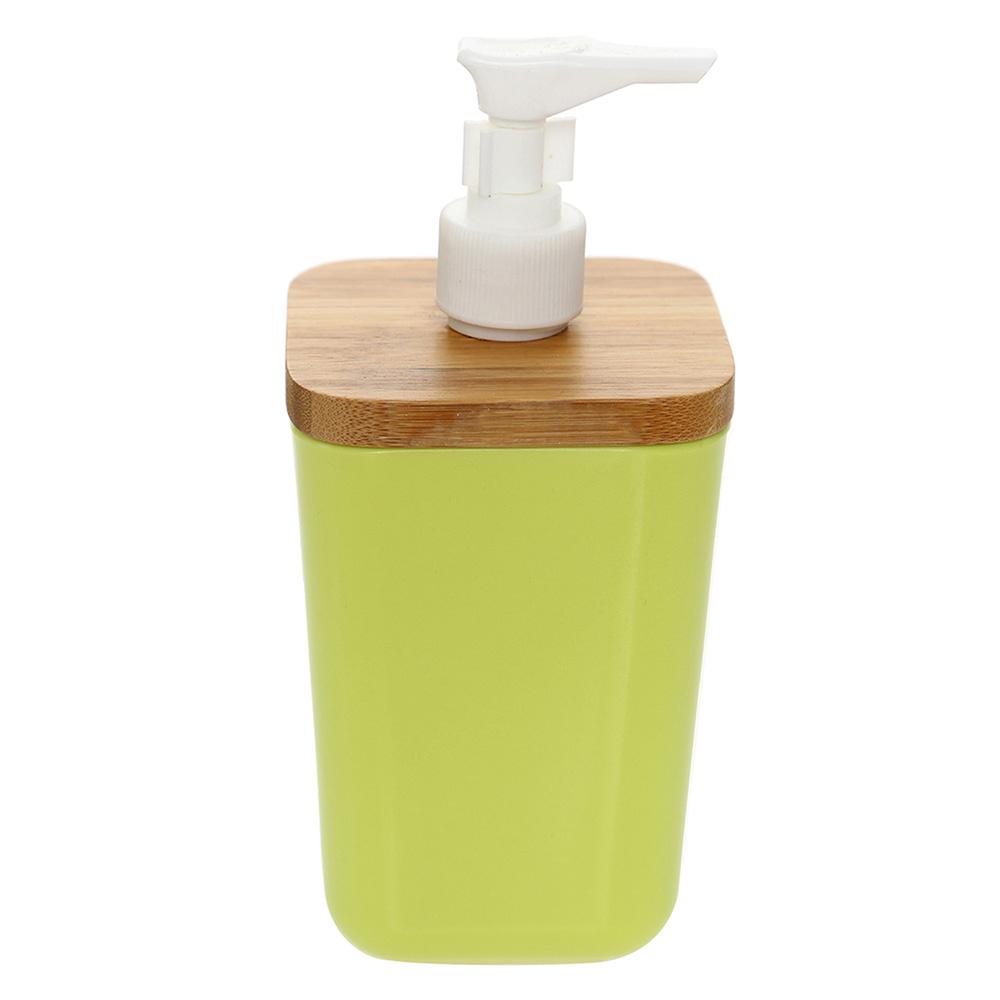 Sıvı Sabunluk Yeşil Renkli Bambu,Melamin Banyo Aksesuarı