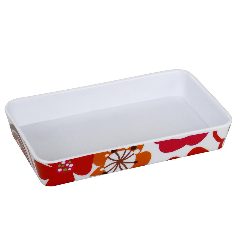 Sabunluk Kırmızı Papatya 2 Desen Banyo Aksesuarı