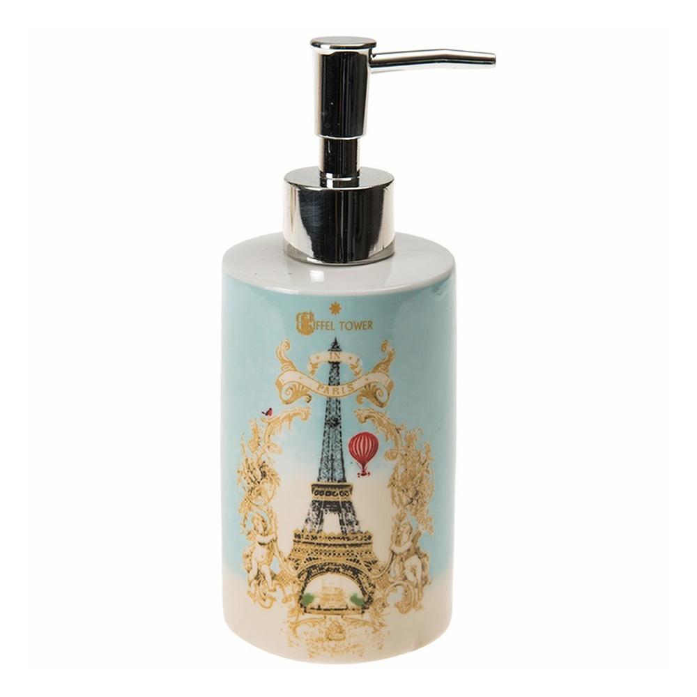 Sıvı Sabunluk Eyfel Kulesi Romantik Yeşil Model Banyo Aksesuarı