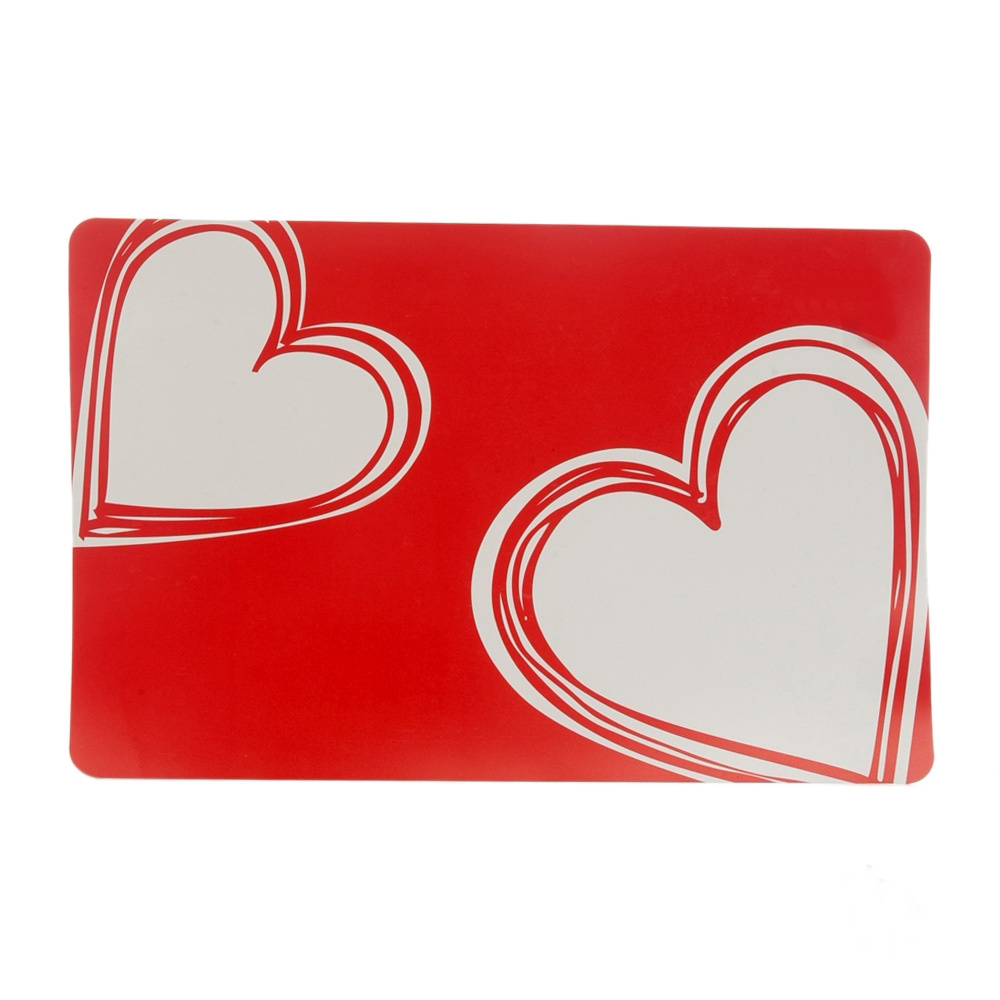 Bosphorus Amerikan Servis Tekli Kırmızı Kalp Desenli Pvc Ürün Resmi