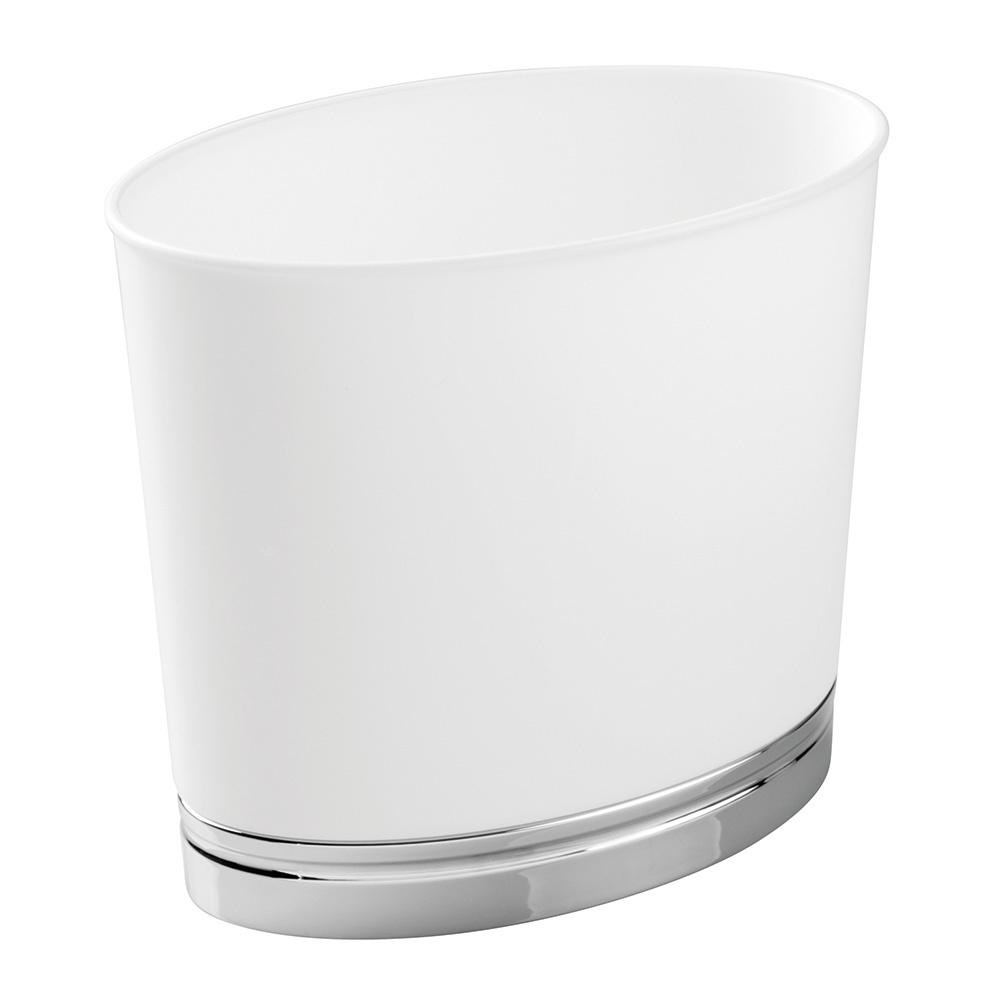 Çöp Kovası Oval Şekilli Beyaz Renkli Banyo Aksesuarı