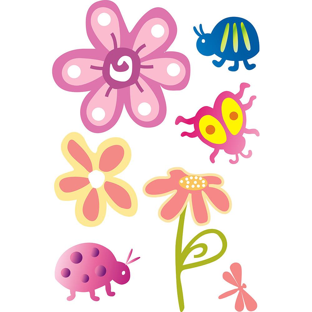 Bosphorus Duvar Süsü (Sticker) Çiçekli, Böcekli Şeffaf Filmli Duvar Dekoratif Süsü Ürün Resmi