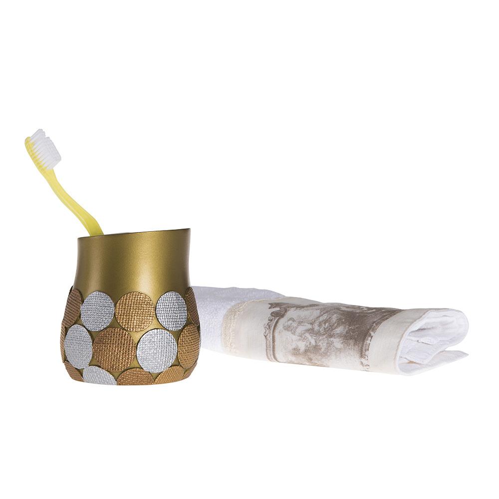 Diş Fırçalık Altın Büyük Puanlı Model Banyo Aksesuarı