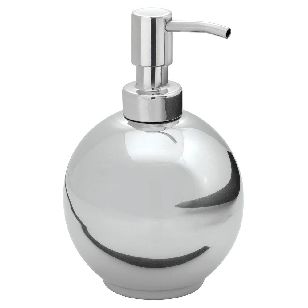 Cilalı Gümüş Model Oval Şekilli Çelik Sıvı Sabunluk
