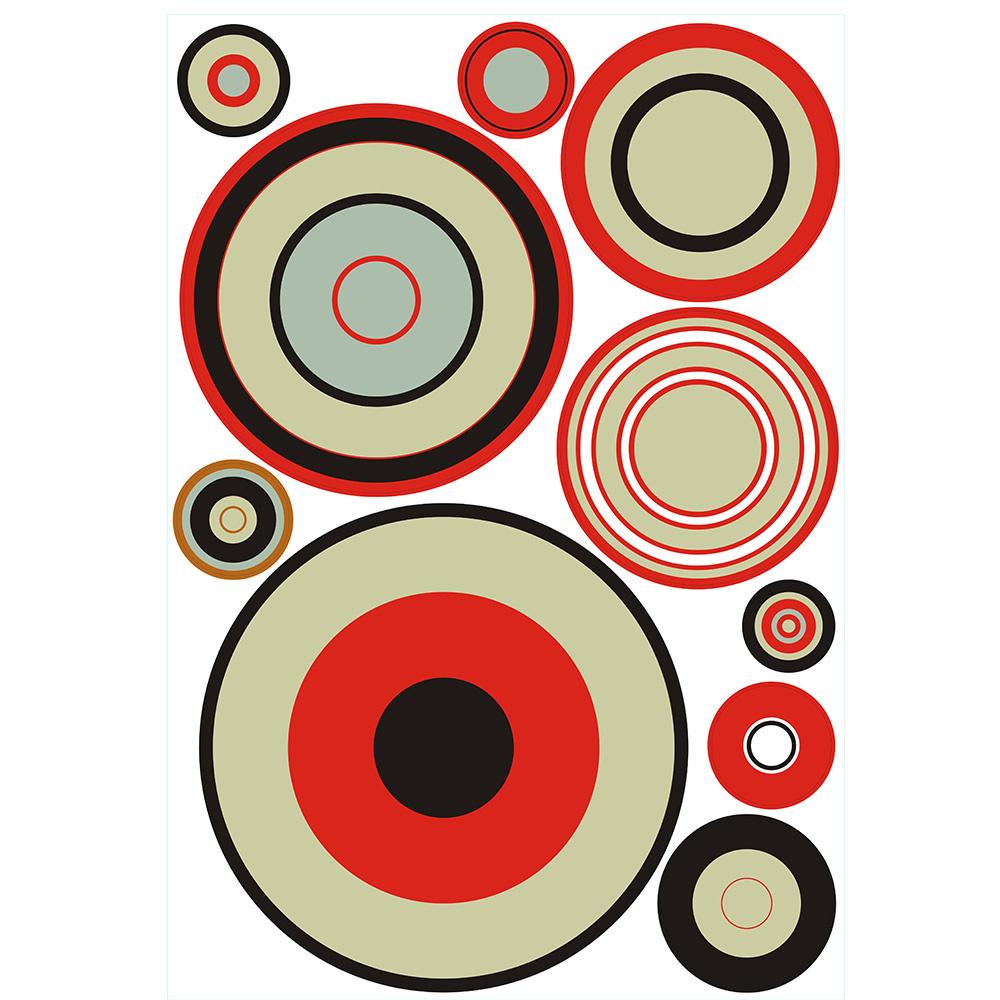 Bosphorus Duvar Süsü (Sticker) Geometrik Halkalı Duvar Dekoratif Süsü Ürün Resmi