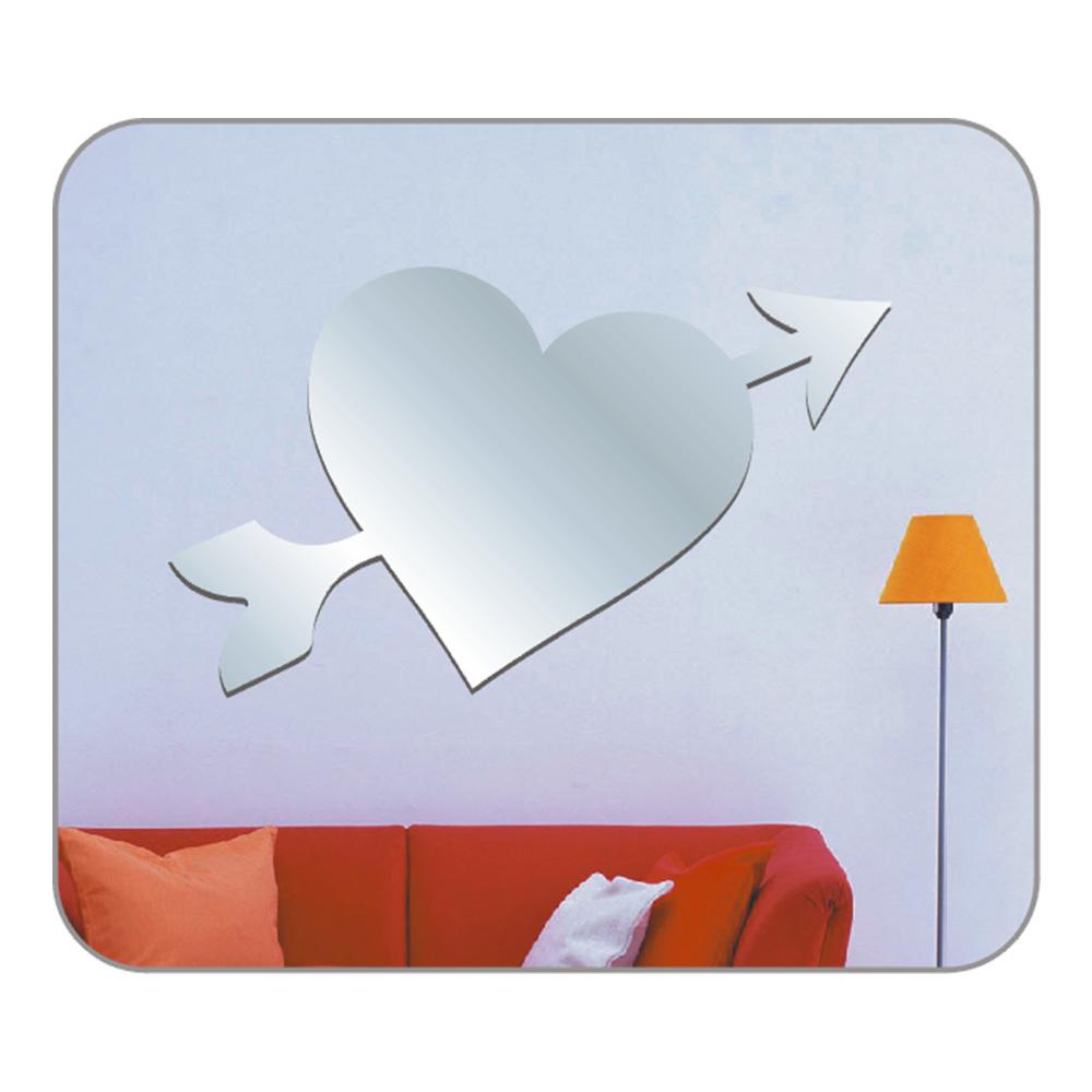 Bosphorus Duvar Süsü Aynalı (Sticker) Kalp Şekilli Duvar Dekoratif Süsü Ürün Resmi