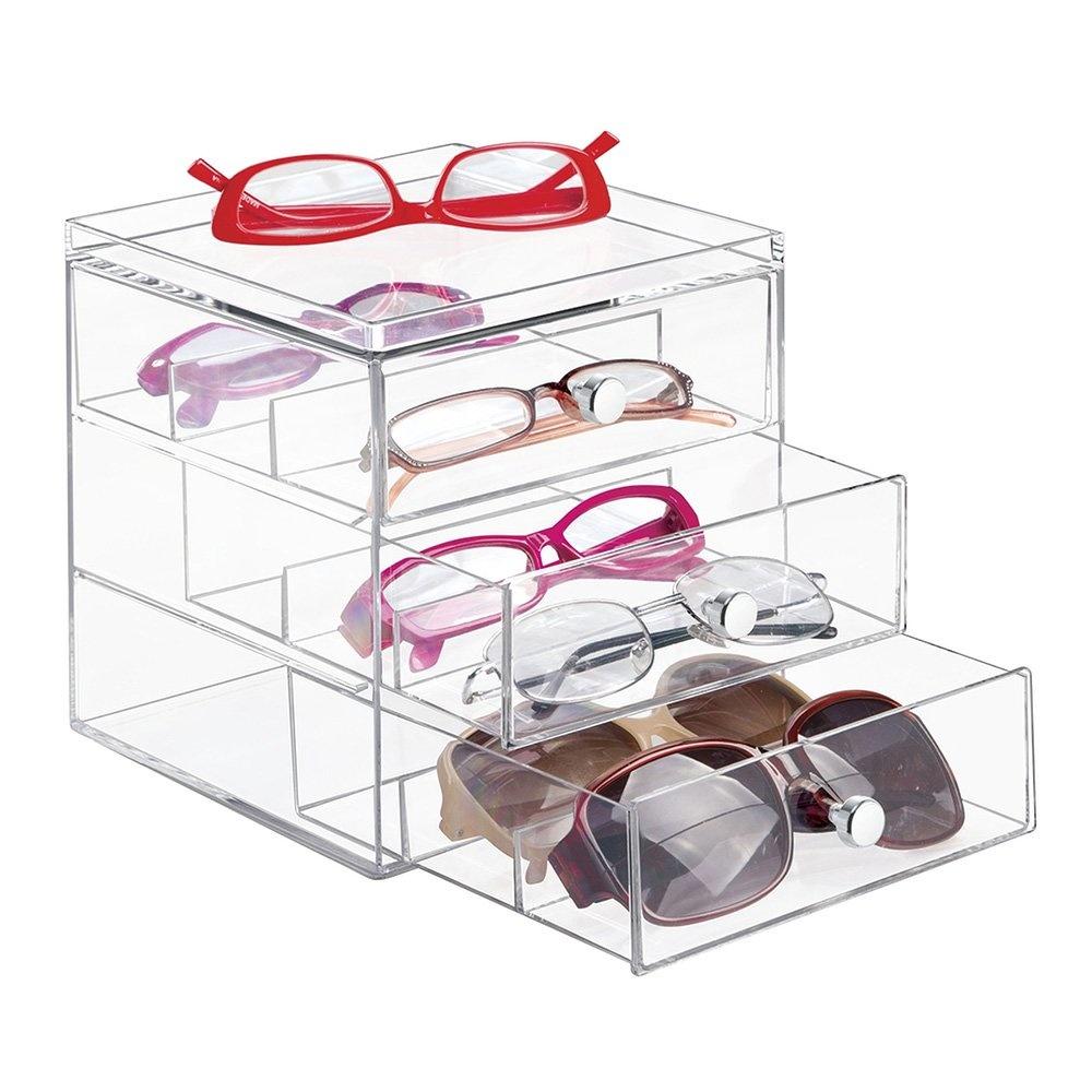 Gözlük,Ve Kozmetik Ürün Düzenleyici 3 Çekmeceli Takı Ve Makyaj Kutusu